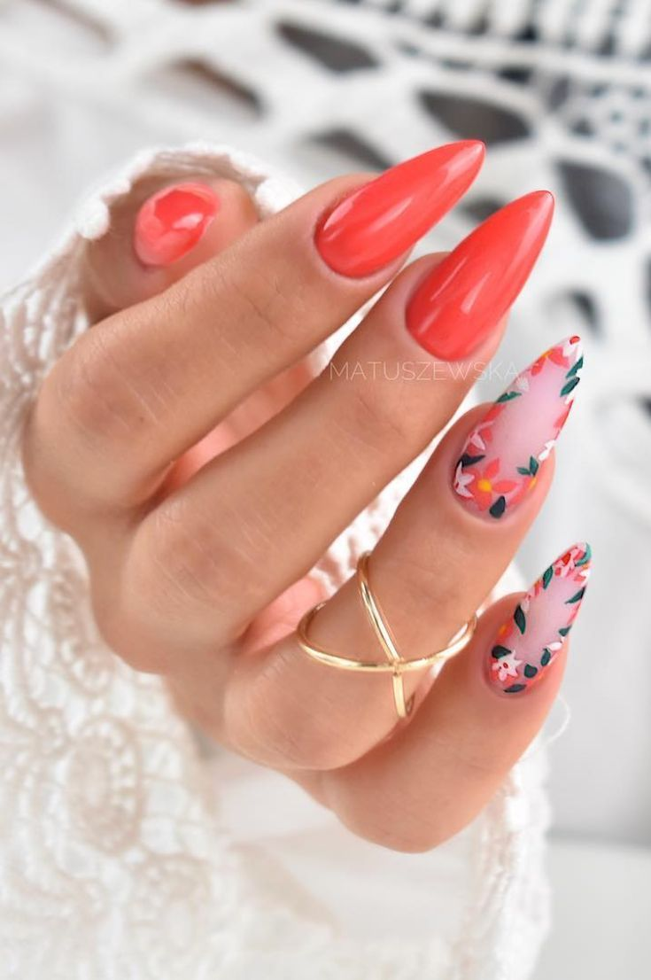Spring Summer Nail Ideas Nail Decorating Ideas Trends And Tips New 2019 Page 21 Of 51 Clear Crochet Stilleto Nails Designs Rose Nail Design Coral Nails With Design