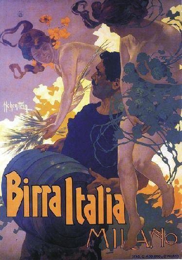 """TARGA VINTAGE """"1901 BIRRA ITALIA MILANO"""" PUBBLICITA', POSTER, ADVERTISING, PLATE"""