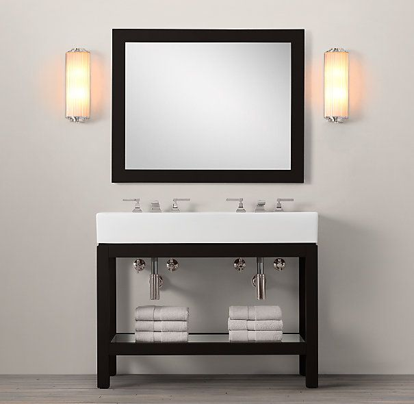 Hutton double console sink putnam ideas pinterest Double sink washstand