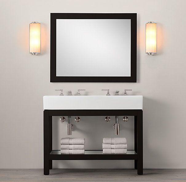 Hutton Double Console Sink Putnam Ideas Pinterest
