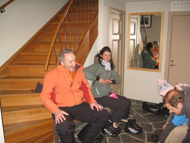 The team takes a break from the sub-zero temperatures. Luckily each of our rooms came with its own fireplace.