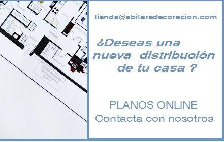 Abitare Decoración  PLANOS ONLINE  para la  nueva distribución de tu casa. Solicita presupuesto. tienda@abitaredecoracion.com