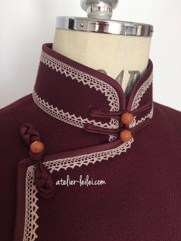 ヘリーンボン・ウールの旗袍♪ – atelier-leilei