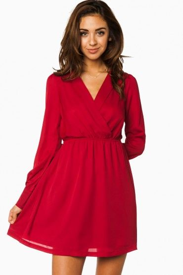 Cute little red dress - pair it with a statement necklace and some black stilettos