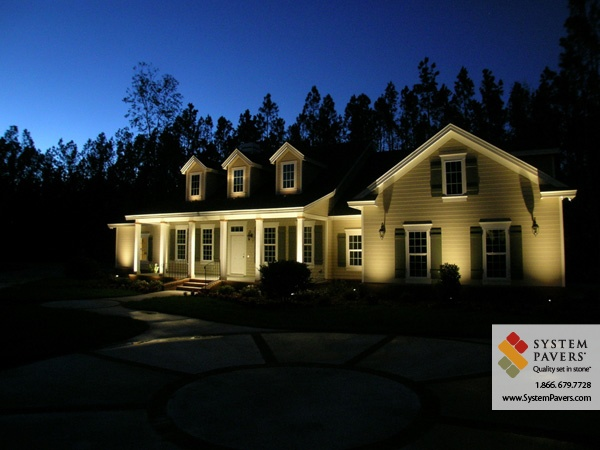Fetching facade example of exterior landscape lighting this old a house lighting the exterior of your home