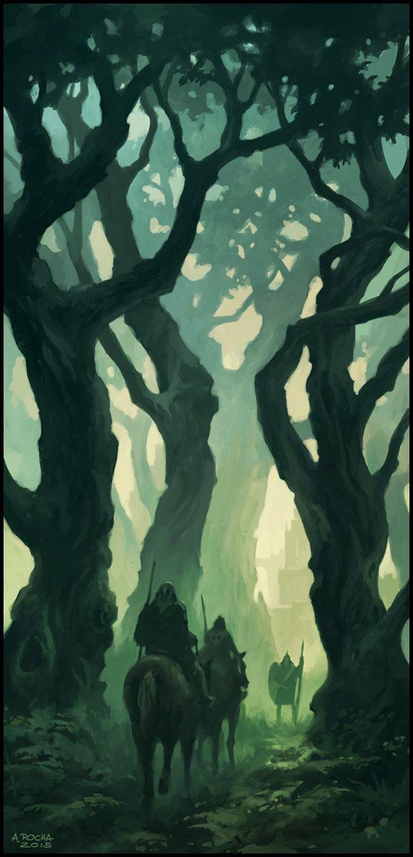 forgotten woods- limite entre bosque blanco y ereborn