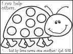 Ladybug Activity Bible Sheet for Sunday School from www.daniellesplace.com