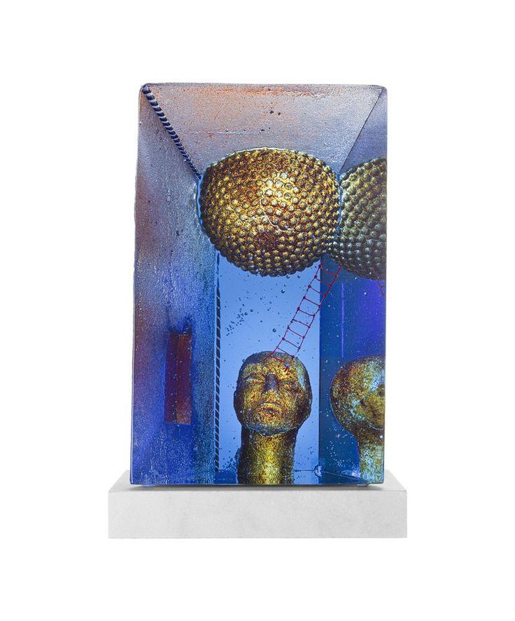 Blue Moon Limited Art glass, design by Bertil Vallien for Kosta Boda