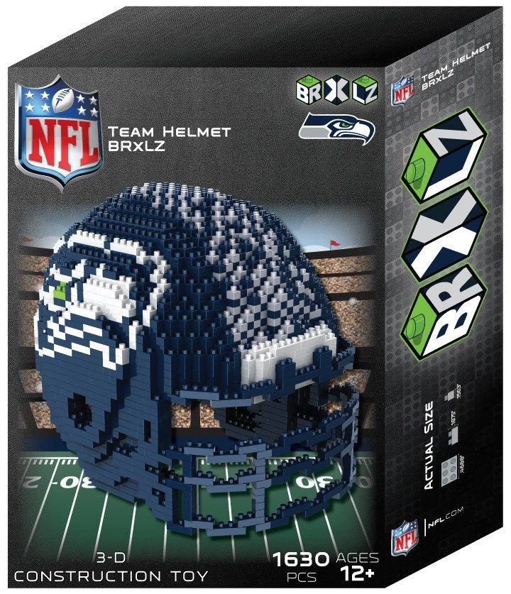 seattle seahawks nfl 3d brxlz puzzle helmet set pre order delivered by 12