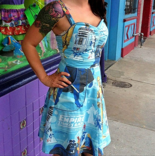 Empire Strikes Back' Dress: Back Dresses, Style, Clothes, Pin Up Dresses