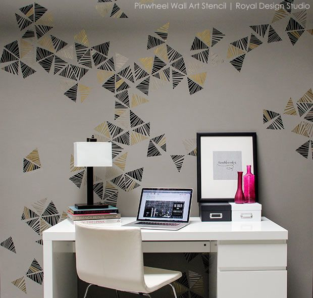 Wall Design Stencils 196 best modern wall stencils images on pinterest | wall