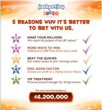 Jackpotjoy Lotto is another fabulous initiative by the Jackpotjoy.com to entertain UK players and offer them a chance to place a bet on the outcome of the UK lottery.