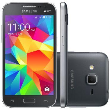 Celular Smartphone Samsung Galaxy Win 2 Duos TV G360BT Cinza -Dual Chip, 4G, TV, Tela 4.5, Câmera 5MP+Frontal 2MP, Quad Core 1.2Ghz, 8GB+Cartão SD 8GB