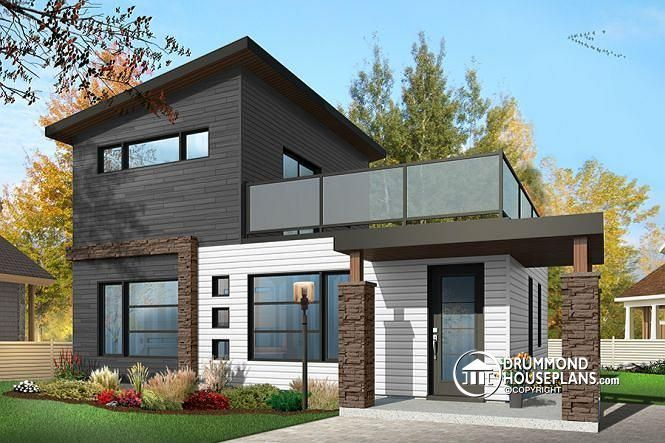 152 best modern house plans contemporary home designs for Modern house plans with cost to build