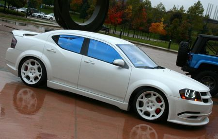 Check out this pure white beauty :-D 2013 Dodge Avenger