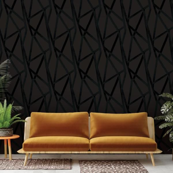 Tempaper Intersections Vinyl Peelable Wallpaper Covers 56 Sq Ft In4024 The Home Depot Removable Wallpaper Peel And Stick Wallpaper Geometric Removable Wallpaper