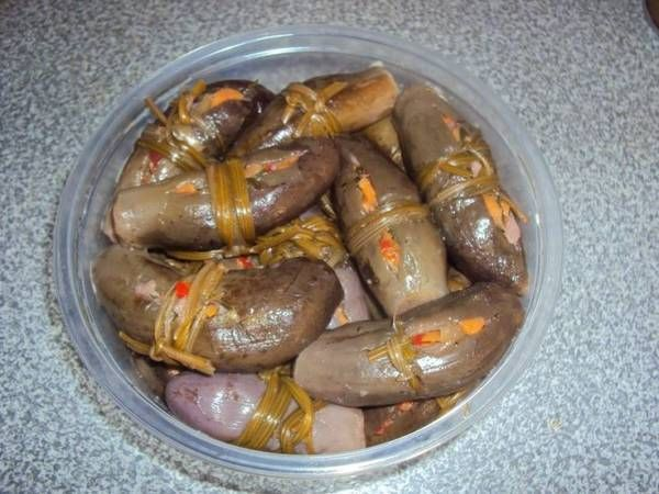 Pickled eggplant, a very old delicacy!