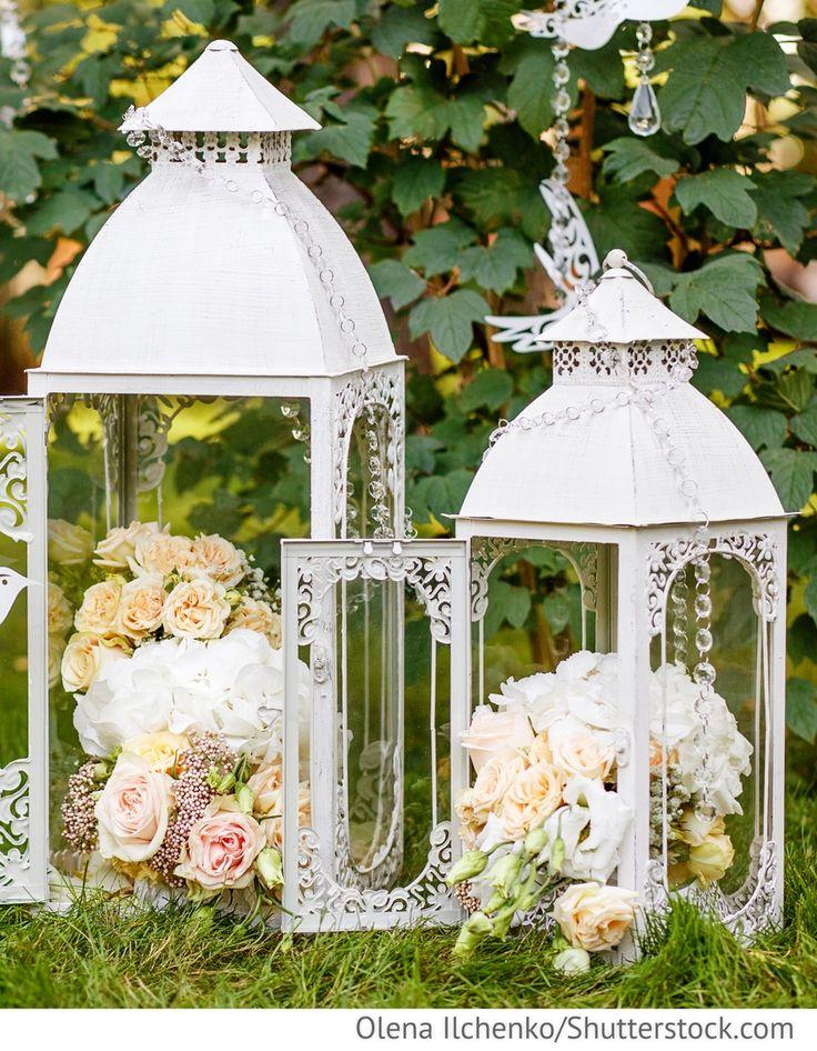 Laternen weiß, Hochzeitsdekoration für Tische für Hochzeit