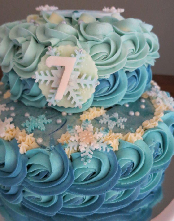 """""""Frozen"""" rosette cake"""
