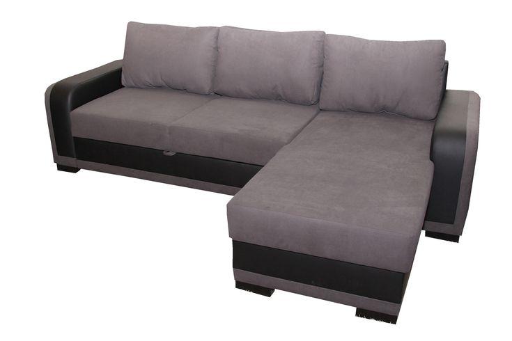 Rami sarok ülőgarnitúra fekete-szürke színkombinációval, kiváló szövettel kapható a Rami sarok ülőgarnitúra. Rendelkezik a bútor ágyneműtartóval és ágyazható résszel is. Így ezért az árért egy többfunkciós bútort kap.