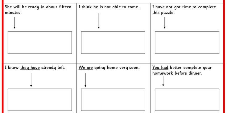 Four differentiated contracted words activities to practice question types from the Sample KS2 SPAG test (New Curriculum 2014).