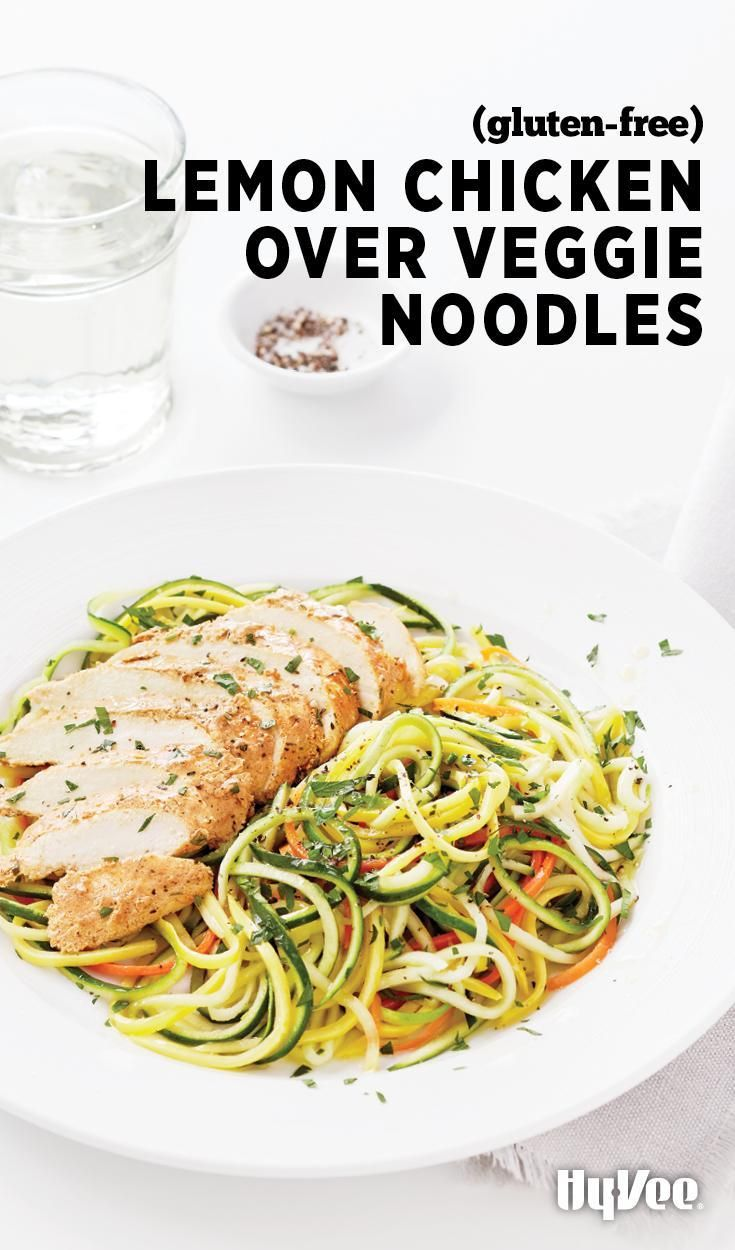 Noodles made from vegetables could make you forget that noodles made from wheat exist. Lemon Chicken over Veggie Noodles is gorgeous, isn't it?