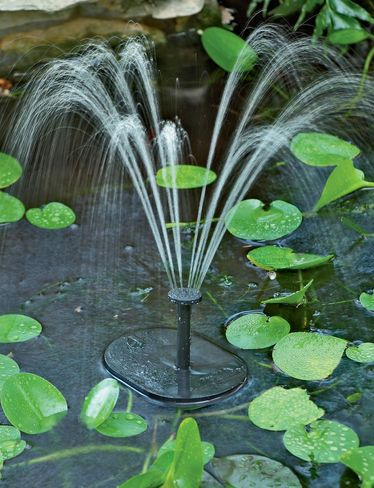 Solar pump for water features    $45  awesome.....no electrical cords to deal with!!