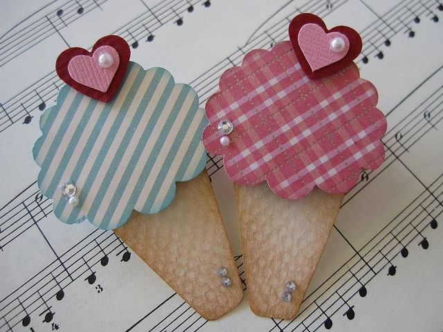 Ice Cream Cone Embellishments by vsroses.com, via Flickr
