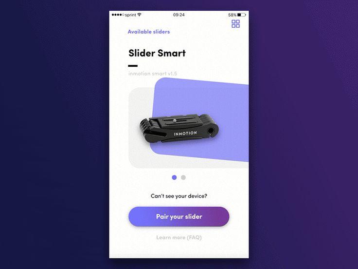 Photo sliders app interacion by Bart Zimny