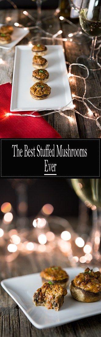 The Best Stuffed Mushrrooms Ever! Vegan and Gluten Free