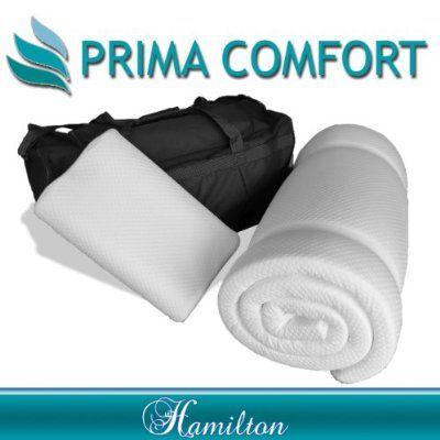 prima comfort travel memory foam mattress topper plus pillow the hamilton 7 day money