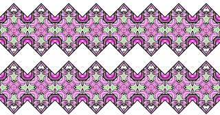 ArtbyJean - Borders: Seamless Borders with zigzag edges in sets of 30 (...