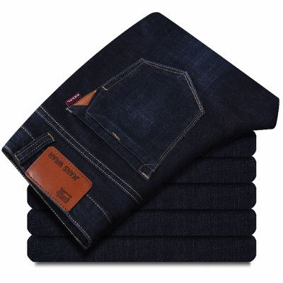 Mens Stretch Fleece Denim Biker Jean