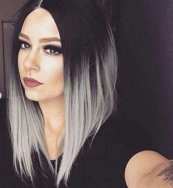 orta boy gri saç modelleri 2019
