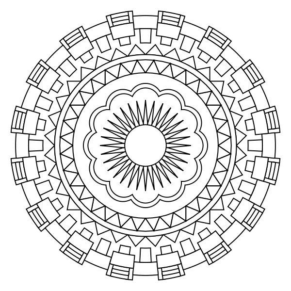 2115 best mandalas images on Pinterest  Coloring books Adult