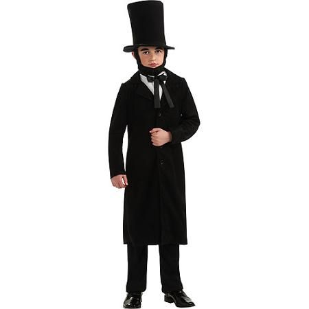 Pay homage to the 16th President of the United States by wearing this Abraham Lincoln Child Costume! This Abraham Lincoln costume for kids recreates the unforgettable appearance of Abraham Lincoln in the most detailed manner. Perfect for character plays, Halloween and any patriotic/historic themed costume parties/events!