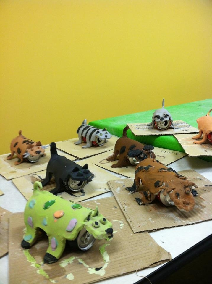 Camp ideas hilarious animals drying over soda cans
