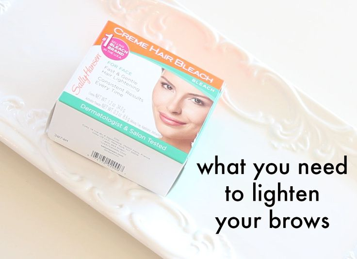 Here's the, Why and How To Lighten Your Eyebrows...   #1. YOU'VE LIGHTENED YOUR HAIR:  Sure people lighten their hair everyday, but not...