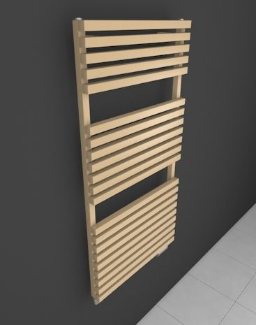 Ruby Bath: Bathroom ladder radiator HOTHOT suitable into modern bathroom. Bespoke radiator - dimensions and colours. Bathroom radiator with angular profiles. Suitable for various heating types (central heating radiator, electric or dual fuel radiator). Delivery: 4 weeks