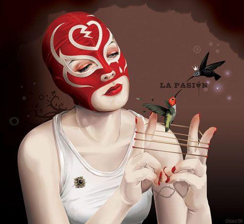 Female Luchador, Artist Unknown