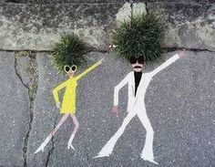 Perfect interaction of Street Art and nature