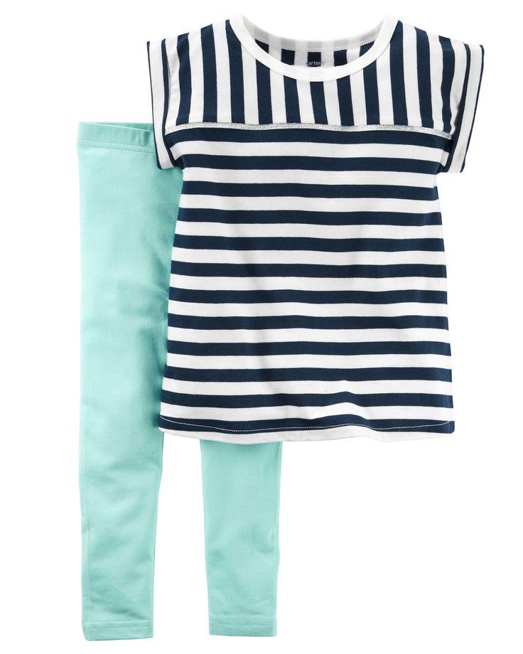 Baby Girl 2-Piece Top & Legging Set | Carters.com