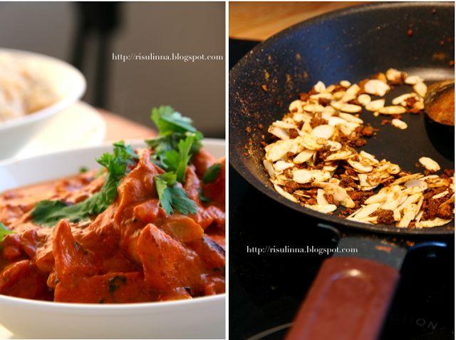 Mausteinen Manteli: Butter chicken, voikana, Murgh makhani