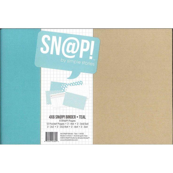 Simple Stories Snap Binder 4x6 Teal