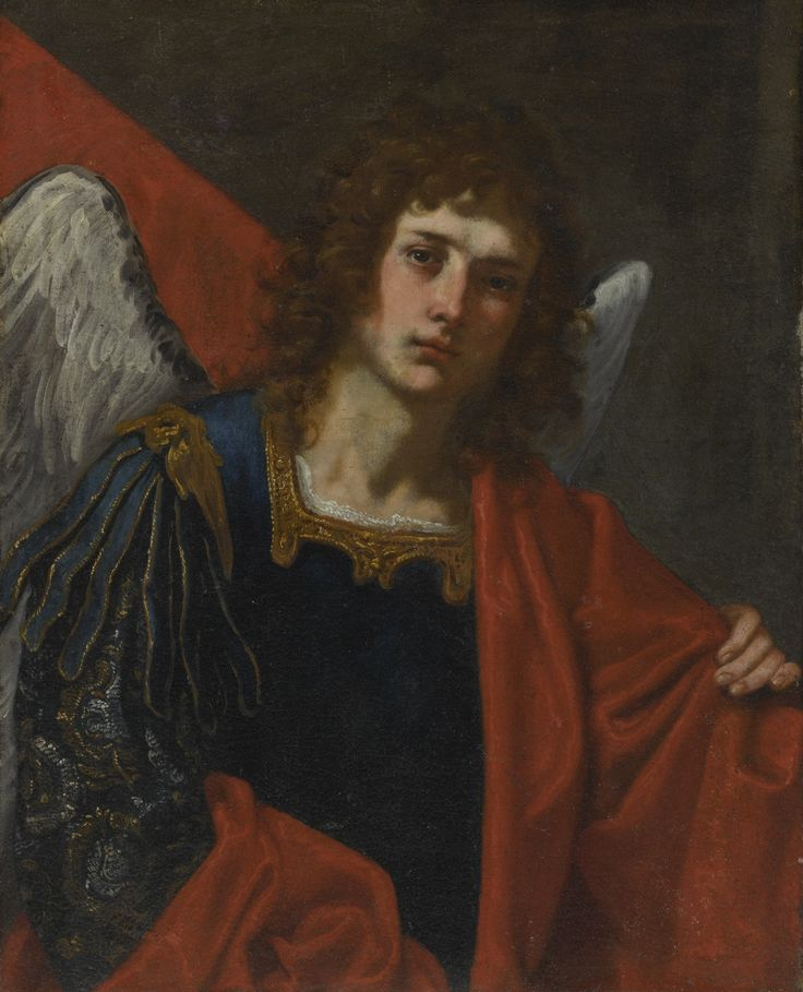 Florentine School, 17th Century SAINT MICHAEL, HALF-LENGTH oil on canvas, unlined 30 1/2  by 21 1/8  in.; 77.5 by 61.4 cm. sotheby's