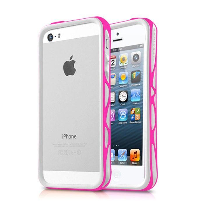 Θήκη ITSkins Venum για iPhone 5/5s λευκή/ροζ, Θήκη προστασίας τύπου bumper για iPhone 5/5s