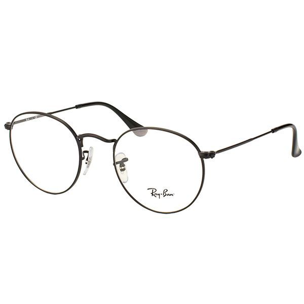 623a8485af7 Shop Ray Ban Unisex RX 3447V 2503 50mm Matte Black Round Metal Eyeglasses -  Free Shipping