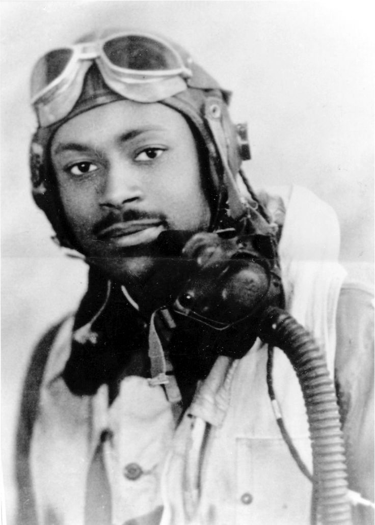 """Lt. Charles Bailey, Sr., one of seven brothers who distinguished themselves in WWI and Korea. Click link for all brothers' stories. Charles was the first black aviator from Florida to become a Tuskegee Airman. He is credited with shooting down two Focke-Wulf-190 German fighter planes in """"Josephine,"""" a P-40 Warhawk named for his mother, and later in """"My Buddy,"""" a P-51 Mustang named for his dad."""