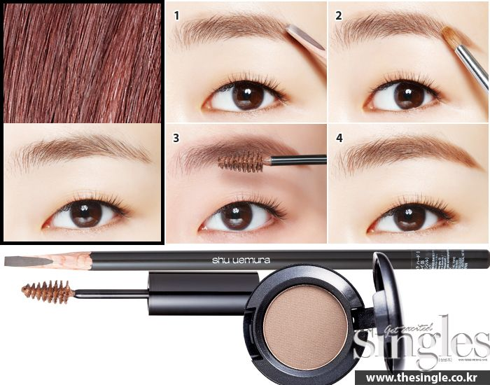 eyebrow tutorial korean makeup www.piccassobeauty.net