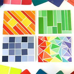 Paint Sample 25 best paint chip crafts images on pinterest | paint chips, paint